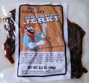 Maple pork jerky