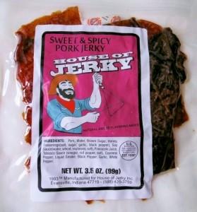 Sweet & spicy pork jerky