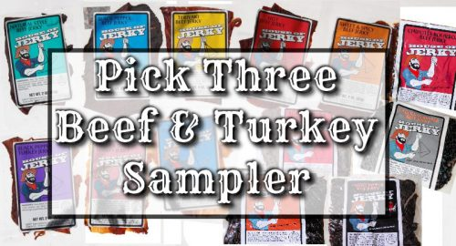 Beef & Turkey Pick three sampler