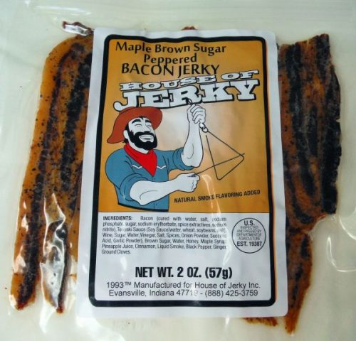 maple brown sugar peppered bacon jerky