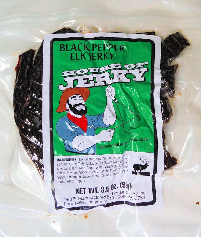 Elk Jerky - black pepper