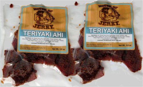 Teriyaki Ahi jerky