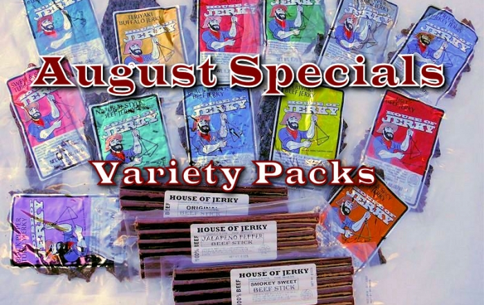 August Jerky Specials