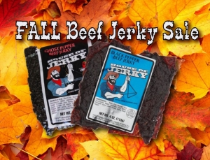 FALL beef jerky sale!