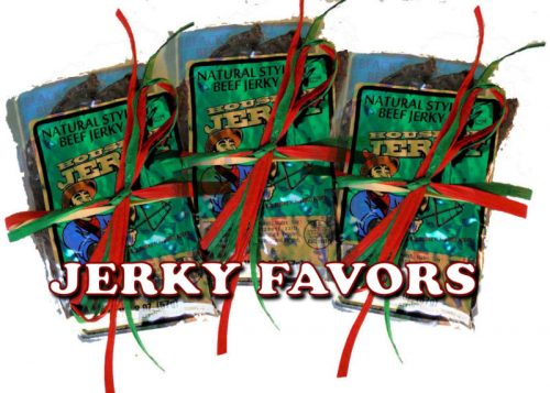 Beef Jerky Favors - three pack