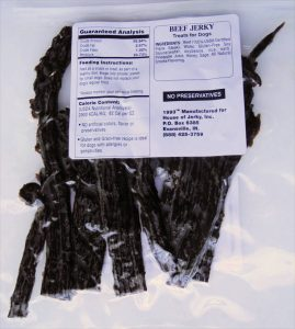 Dog House Jerky - Beef label