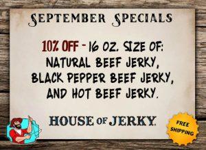 Sept HOJ Specials