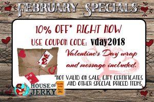 February HOJ specials