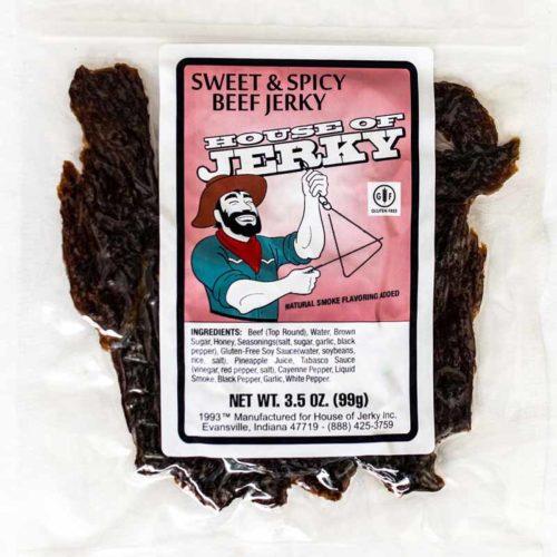 bag of sweet & spicy beef jerky