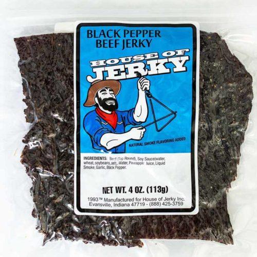 bag of black pepper beef jerky