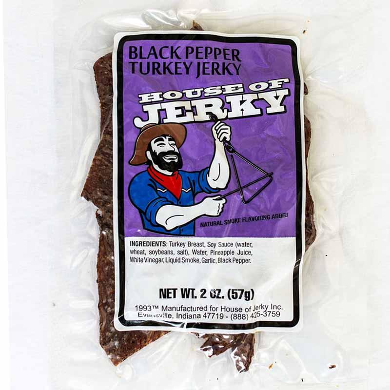 bag of black pepper turkey jerky