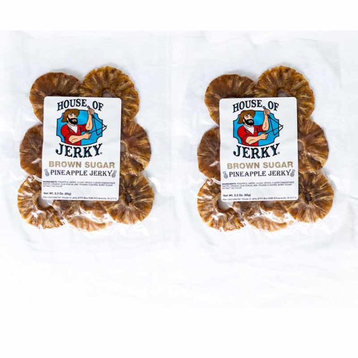 2 bags of brown sugar pineapple jerky
