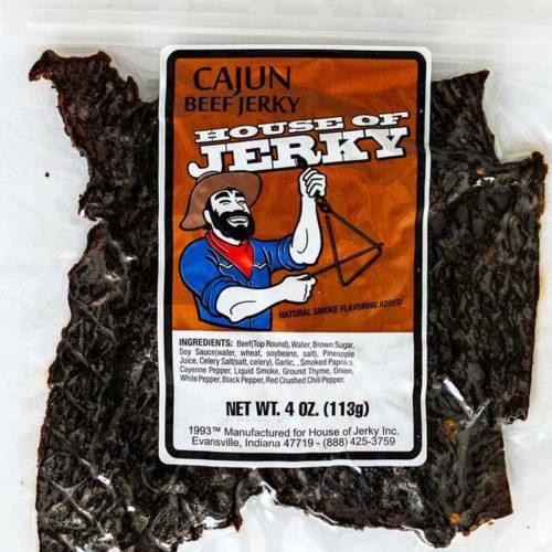 bag of cajun beef jerky