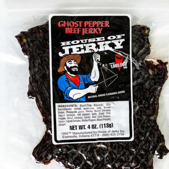 bag of ghost pepper beef jerky