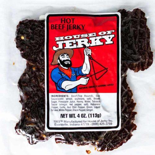 bag of hot beef jerky