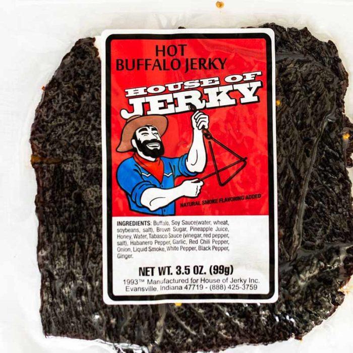 bag of hot buffalo jerky