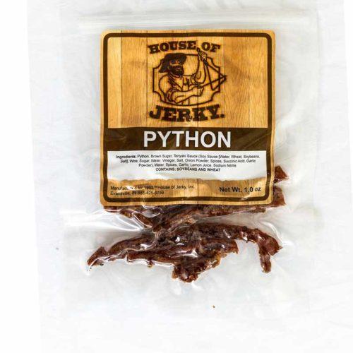 bag of python jerky