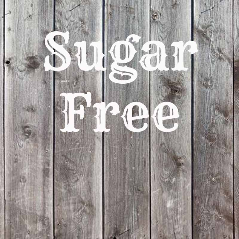 the word sugar free on wood background
