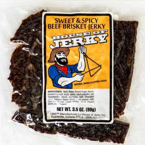 bag of sweet & spicy beef brisket jerky