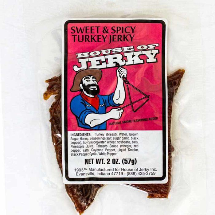 bag of sweet & spicy turkey jerky