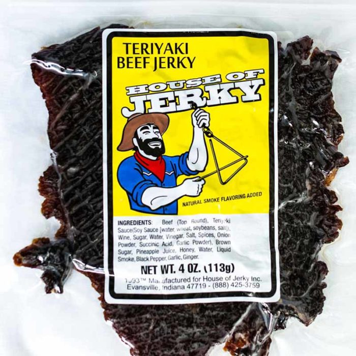 bag of teriyaki beef jerky