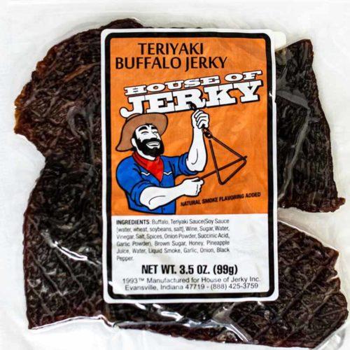 bag of teriyaki buffalo jerky