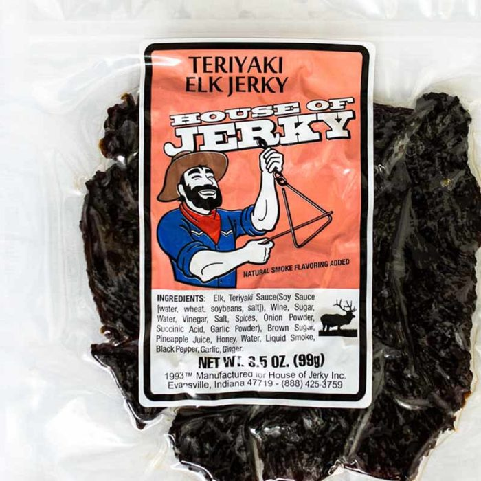 bag of teriyaki elk jerky