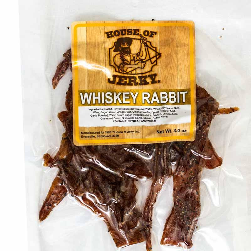 bag of whiskey rabbit jerky
